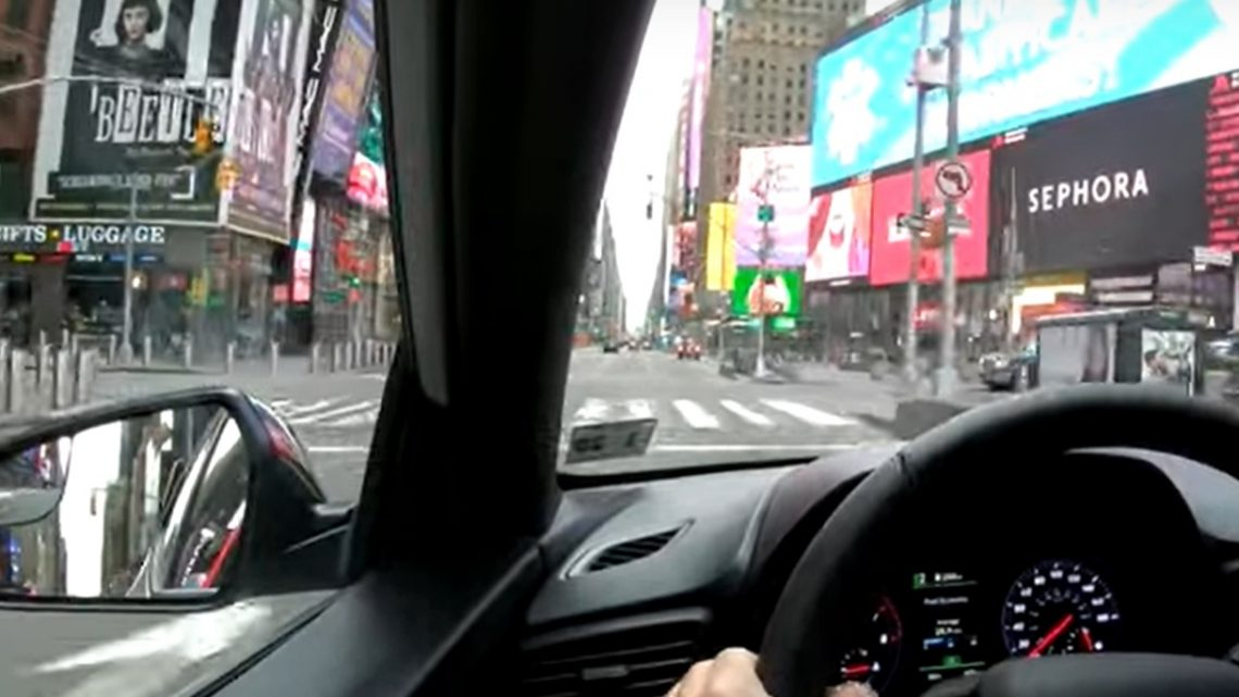 VIDEÓ: Autózz nálunk New York üres utcáin