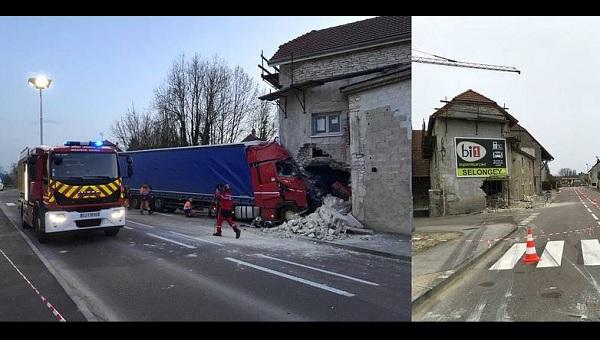 VIDEÓ: Házba csapódott egy kamion Franciaországban – Egy 40 éves magyar állampolgár az áldozat