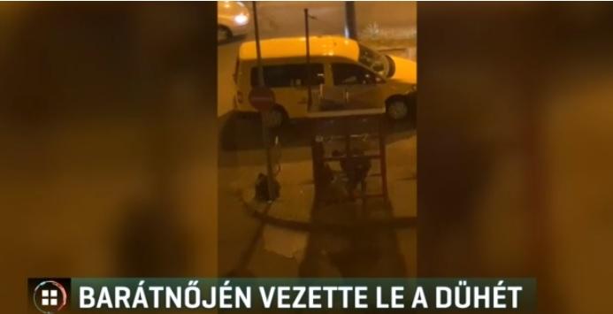 VIDEÓ: Egy közlekedési baleset miatt verte össze saját barátnőjét az őrjöngő férfi