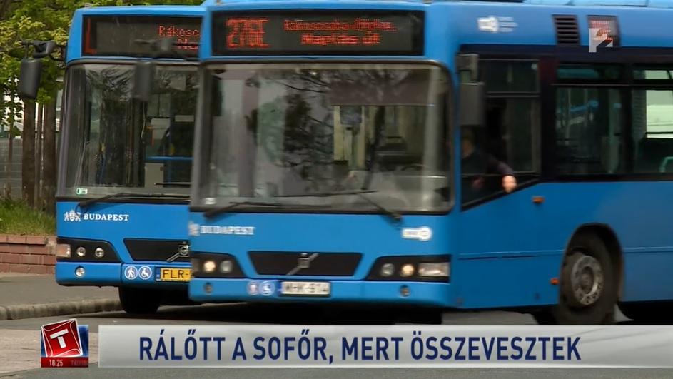 VIDEÓ: Lövéssel akart lerendezni egy vitát egy buszos Budapesten