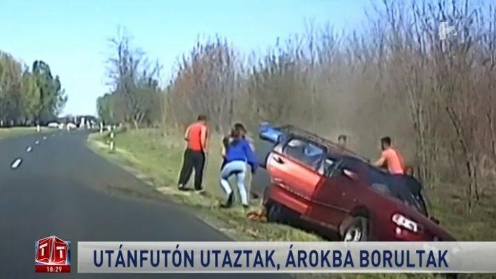 VIDEÓ: Az utánfutóján is ültek annak az autónak, ami az árokba borult pár napja