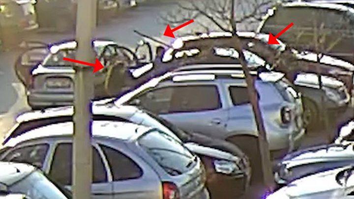 VIDEÓ: Szabálytalan parkolásra figyelmeztette az őr az autóst – Golfütővel és botokkal verték meg érte