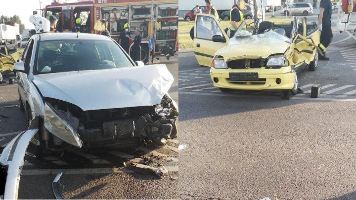 FOTÓK: Csúnya baleset volt délután Budapest 18. és 23. kerületének határán