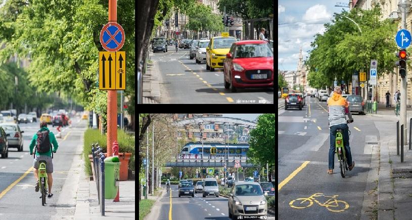 Tovább nő az összefüggő hálózat – Kerékpársávokat alakítanak ki a Villányi úton is