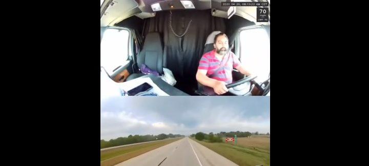 VIDEÓ: Egy pillanatra ragadtak le az álmos sofőr szemei, komoly baj lett belőle