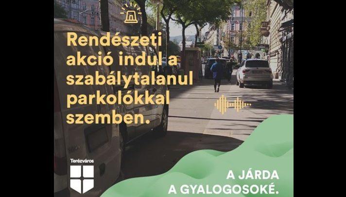 Szigorú akciót indít a rendőrség a szabálytalanul parkoló autósok ellen