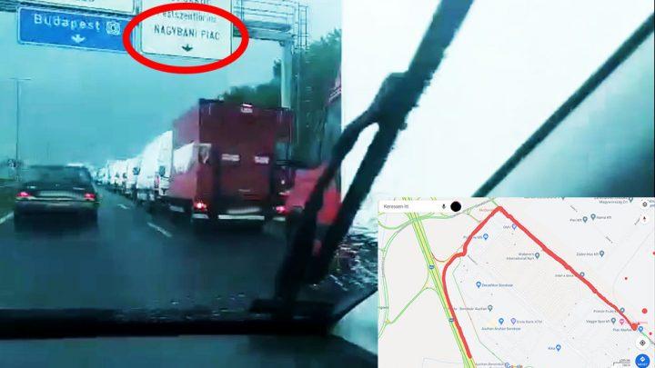 VIDEÓ: Döbbenet, hogy ilyen egy átlagos vasárnap az M5 bevezetőn. A probléma nem új sajnos
