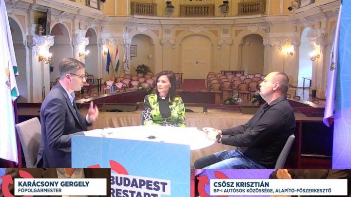 Karácsony Gergellyel beszélgettünk a Budapest Restart című élő műsorban