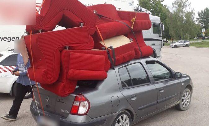 7 fotelt szállított egy Thalián. Lekapcsolták…