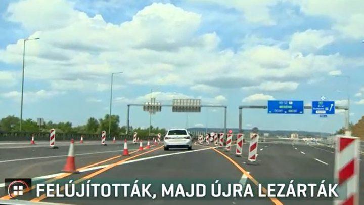 VIDEÓ: Egy hónapig sem autózhattunk az M0-ás Hárosi Duna-hídján. Lezárták!