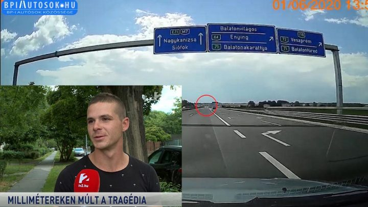 Riport: Egy másik szemtanú szerint több száz métert tolatott az M7-esen a Peugeot sofőrje