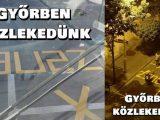 FOTÓK: Busz sáv lett Győrben a parkoló sor helyén – A felirat azonban érdekesre sikerült
