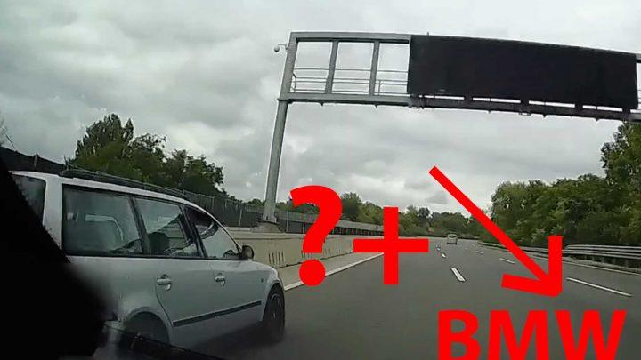 VIDEÓ: Leállósávon előzni már nem menő. A Passat sofőrje kimaxolta a műfajt, a BMW-s pedig hozta a formát