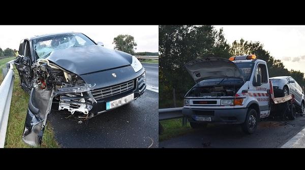 FOTÓK: Életét vesztette egy fiatal autómentős, amikor a leállósávon lévő autójába rohant egy másik autós