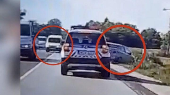 FOTÓ: Szabálytalanul előző autós miatt hajtott árokba – Elmondja a sofőr miért cselekedett így