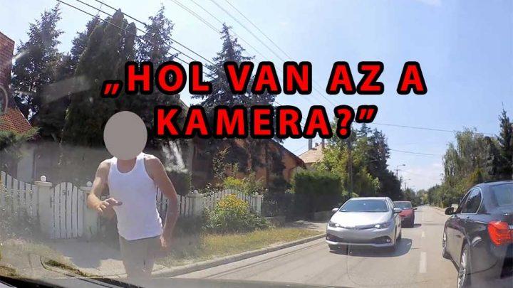VIDEÓ: 6 percig emberkedett, majd ki akarta tépni a kamerát és fenyegetőzött
