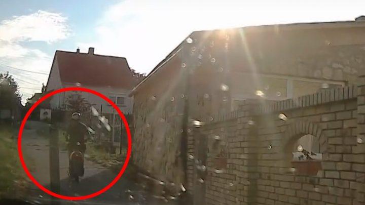 VIDEÓ: Árkon-bokron keresztüli üldözést rögzített a rendőrautóba szerelt kamera