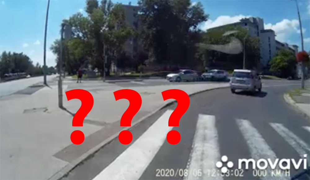VIDEÓ: Erre nem számítasz egy gyalogátkelőn. Pedig a jelek szerint kellene…
