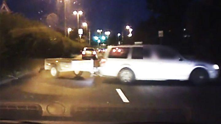 VIDEÓ: Utánfutóval együtt hajtott szembe a forgalommal ma reggel az M5 bevezetőn egy autós