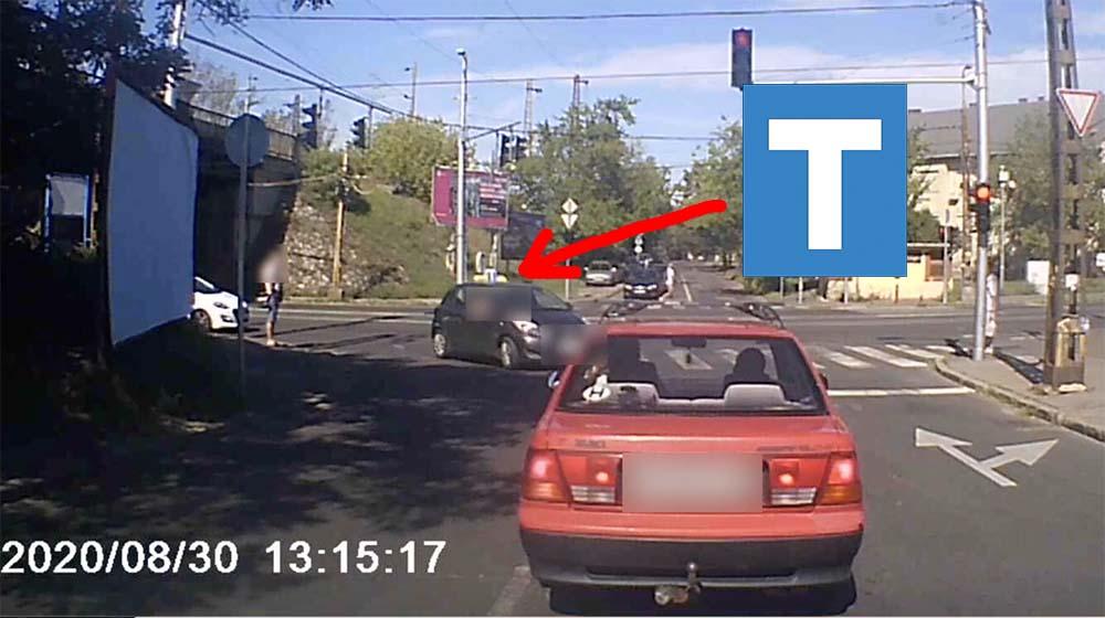 Tanulókocsival hajtotta végre a botrányos manővert a videó főhőse a 15. kerületben
