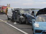 FOTÓK: Halálos tömegkarambol volt tegnap az M5-ös autópályán