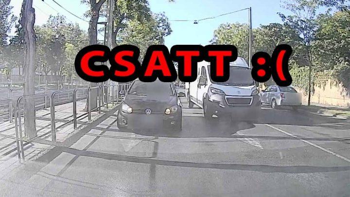 VIDEÓ: Így törték össze elöl-hátul olvasónk autóját a Fiumei úton