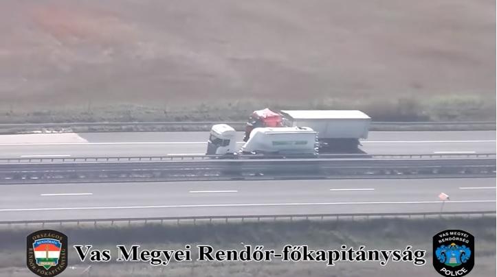 VIDEÓ: Ismét helikopterek bevetésével szűrték a szabálytalan járművezetőket Vas megyében