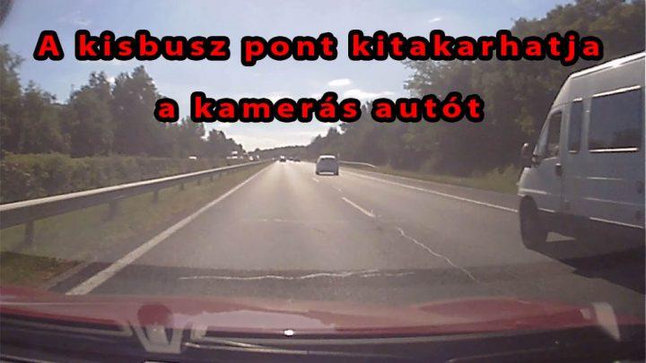 VIDEÓ: Jól látható, hogy mi miatt is életveszély a leállósávból előzés