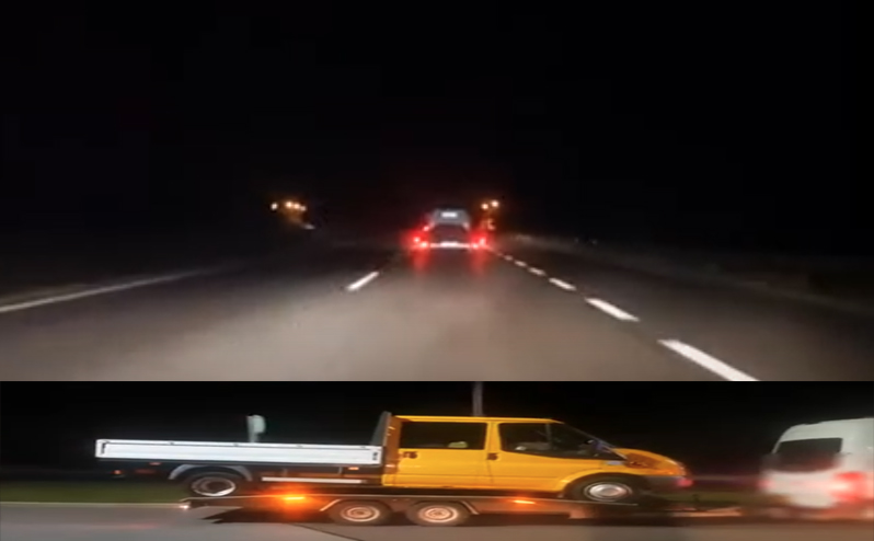 VIDEÓ: Célpontban voltak a horrorkaravánok az M3-ason