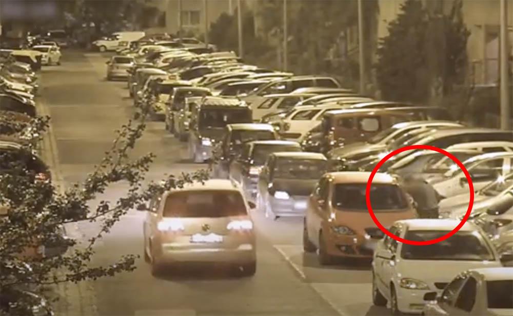 VIDEÓ: Így érték tetten a férfit, aki autókból próbált lopni a 15. kerületben