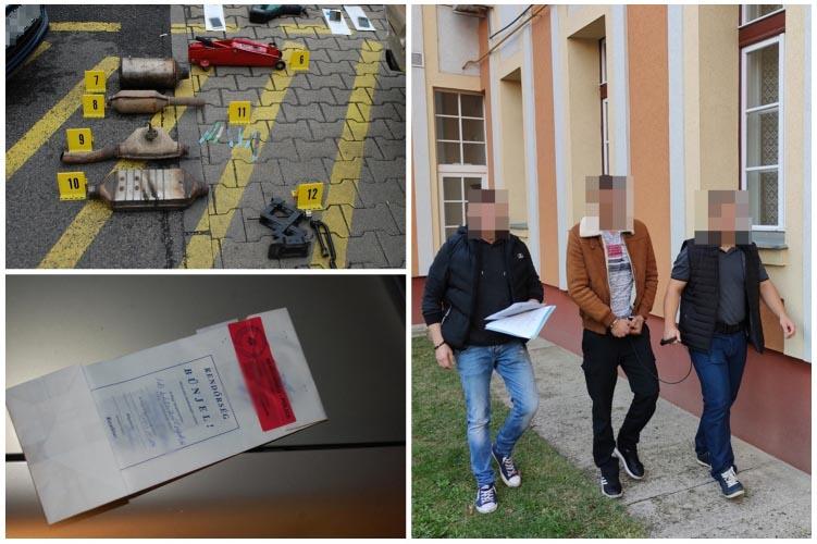 Újabb katalizátor-tolvajokat fogtak el, ezúttal nem Budapesten