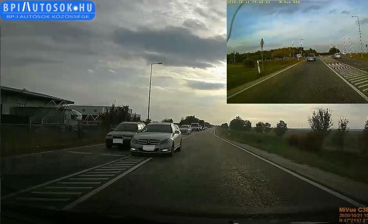 VIDEÓ: Nagyjából 15 autót előzött meg, mert lusta volt kivárni a sort – Persze most is jöttek szemből