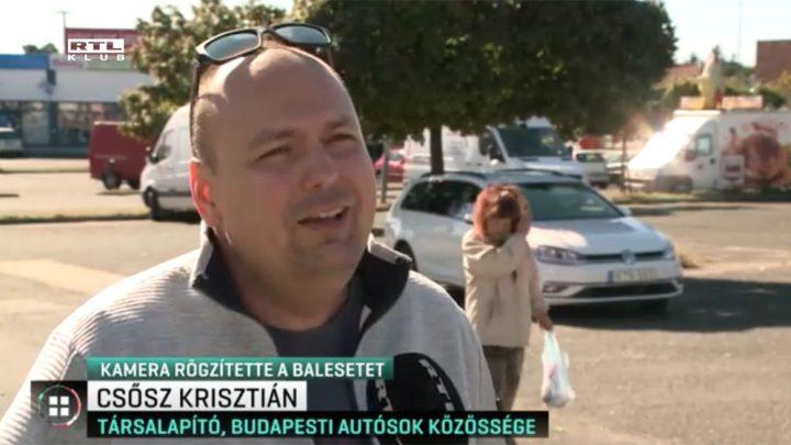 RTL Klub: Luxusautókat videózott az út szélén, elütötték