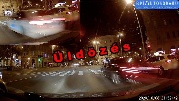 """VIDEÓ: Állsz a lámpánál, majd centikre tőled """"fénysebességgel"""" húz el az üldözött Mercedes"""
