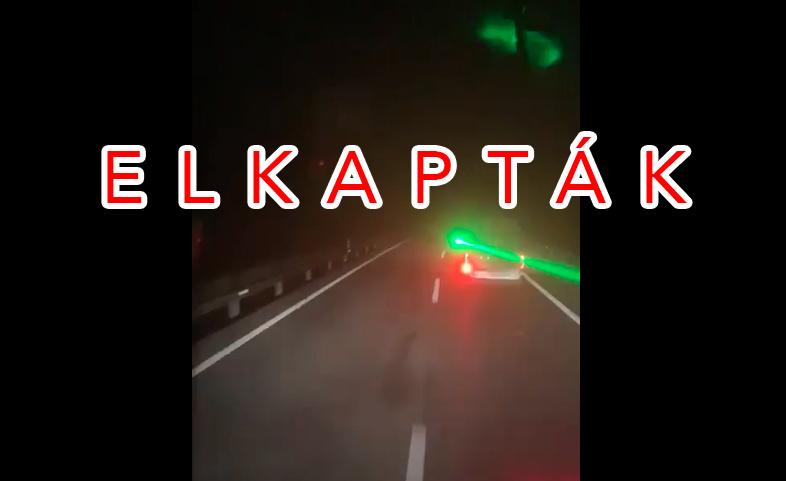 VIDEÓ: 30 ezer eurós pénzbírság jár a lézerrel vakító, büntetőzős sofőrnek
