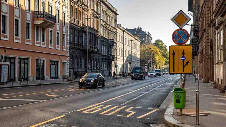 Hirtelen megszűnt a kerékpársáv az Üllői út belső szakaszán
