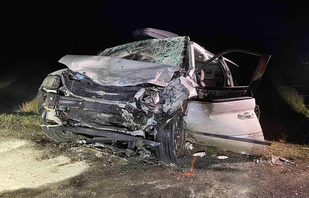 Egy család autójába rohant egy kisteherautó Gyulakeszinél tegnap