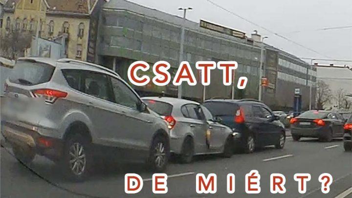 VIDEÓN A BALESET: Szendvics, amibe soha ne kerülj bele! – Belső sávban hagyott autó és a rohanás…