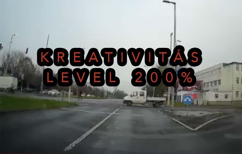 Videón a Szerémi út leglazább furgonosa. Ő nem megy át a piroson