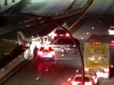 VIDEÓ: Autópályán landolt egy kisrepülő, majd összeütközött egy autóval