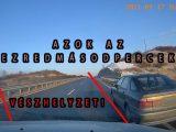 VIDEÓ: Drámai, ahogy majdnem belerohan az álló autóba olvasónk a 8-as úton