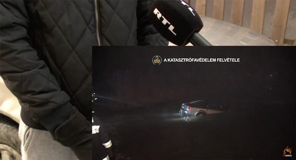 VIDEÓ: Megszólalt a Dunába hajtó autó sofőrje. Abban a hitben volt, hogy ott egy híd lesz