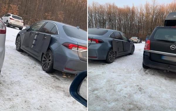 FOTÓK: Ez a sofőr nem aggódik többé, hogy autójára nyitják az ajtót a parkolóban