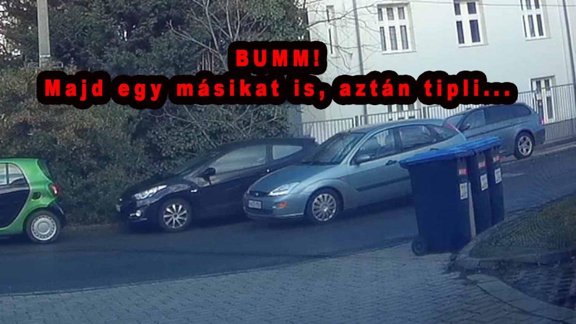 VIDEÓ: Két autót zúzott le, az egyiket a kamera előtt. Azt hittük megállt, de nem