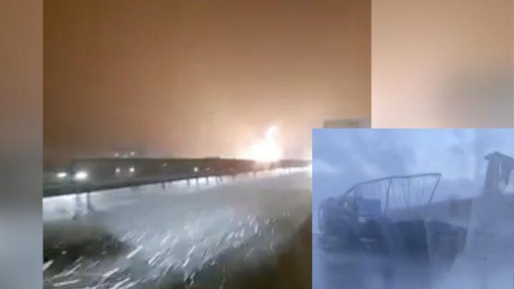 VIDEÓ: Hatalmas lángokkal, totálisan kiégett egy kamion az M1-esen ma reggel