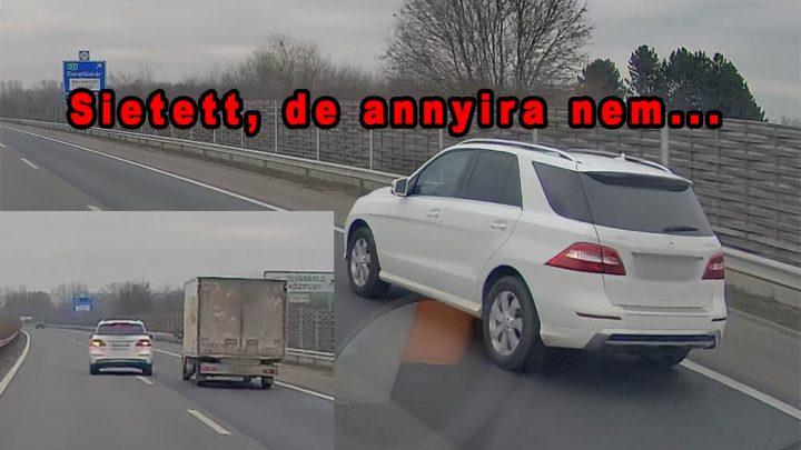 VIDEÓ: A Merci SUV sofőrje sietett az M5-ön, a kisteherautó meg kamionokat előzött. A többit kitalálod!