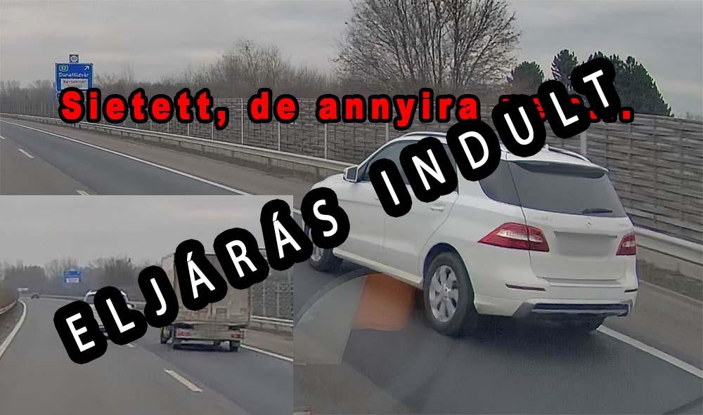VIDEÓ: Eljárás indult a kisteherautó előtt büntetőfékező autós ellen