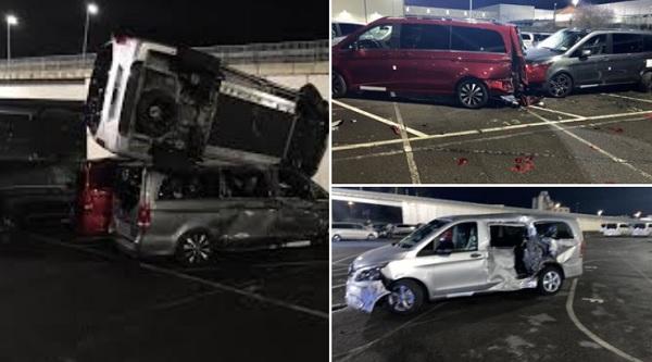 FOTÓK: 50 autót tört össze egy dühös ex-alkalmazott, miután elbocsátotta a Mercedes