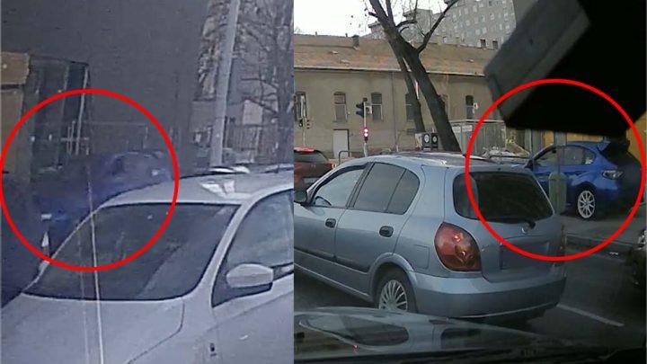 """VIDEÓ: A járdán száguldva, """"rallyzva"""" kerülte ki a dugót a Róbert Károly körúton"""