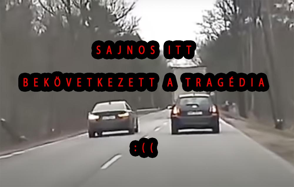 VIDEÓ: Hatalmas frontális balesetet rögzített egy fedélzeti kamera Lengyelországban. A vétlen sofőr elhunyt